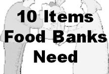 Food Bank info/tips / by Martha Sturtz