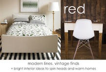 at red / things we love and can't wait to share, from home decor to furniture and gifts from redinfred.com / by . r e d .