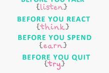 Words of Wisdom / by Beth Nickel