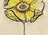 Free machine embroidery / by Eluned Winney