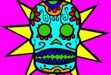 Dia De Los Muertos Coloring and More / Day of the Dead Coloring and More / by Online Coloring