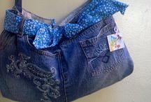 jeand / Reciclaje de jeans, y ropa usada / by Mildred Romero Larez