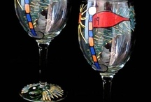 painted wine glasses / by Christine Tabbert