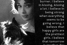 Audrey Hepburn / by Kyrsten Daugherty
