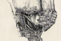 Etching / Drawing / by Virginija D Ras