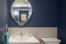 Small powder room decor / by Angela Evans