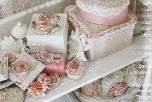 ~♥ My style CRAFT ROOM ♥~ / Craft room office kontor atelje pink rosa / by Alyssa Hansen