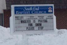 """Funny church signs """"say what"""" / by Bill Kendig"""