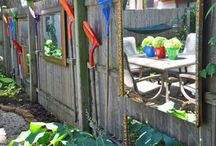Yard and Garden Art / Fun things for the garden from found objects / by Shirley Fox