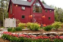 Barn style homes / by Deborah Adcock