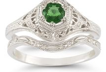 Emerald Jewelry and Rings / by ApplesofGold.com