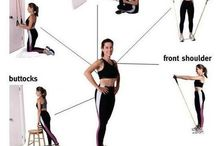 Resistance band exercises / by Mindy Rubin
