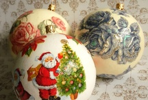 Christmas decoupage ideas / by Tormenta Maine Coons