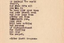 Tyler knott / by Virginia Williamson
