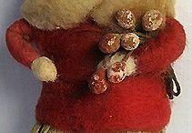 spun cotton and dresden paper ornaments  / by Dottie Bassett