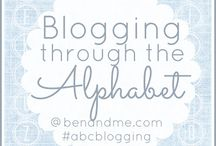 """{ABC Blogging Round 5} / The rules are very simple . . . Blog once a week for 26 weeks, beginning with the letter """"A"""" and going through to """"Z."""" We will not skip any weeks, so you'll know from week to week which letter we're blogging. Then come link up!  / by Marcy (Ben and Me)"""