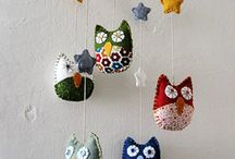 Owls / Owls - crochet, knit, felt, fabric / by Wendy Van de Wege