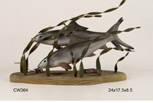 Gamefish Sculpture  / Gamefish Wall Art. Game Fish Sculpture. Ocean Decor. Fish Decor. / by Rita Milone