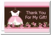 Baby Shower Thank You Cards For Girls / We offer themes for baby showers which you can pick from and these are the thank you cards we offer for the themes that are designed specifically for baby girl baby showers.  / by Candles & Favors