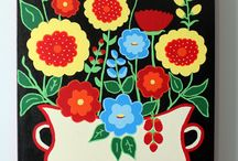 Scandinavian Rose Colour Inspiration / Possible colour scheme for Scandinavian Rose quilt / by Hope's Quilt Designs