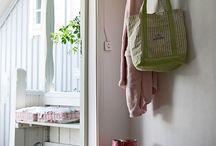 hallway storage ideas / by Enchanted Garden
