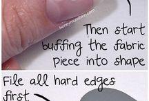 How to fix broken finger nail / by Corinne Gaudet