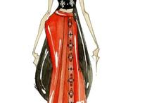 Эскизы моделей... / Иллюстрации моделей знаменитых и не очень модельеров...! / by Irishethka Kalinina