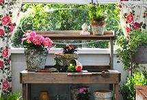 Potting Places / A Collection of Potting Benchs, Potting Sheds and other Potting Places. / by Penny Thompson