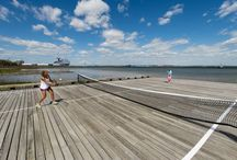 #FCC2014 Iconic Photoshoot / Sunday afternoon Family Circle Cup stars Sloane Stephens and Madison Keys headed to Waterfront Park in beautiful Charleston for an iconic photoshoot on the Charleston Harbor. / by Family Circle Cup