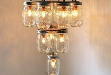 Jar chandelier / by Lauren