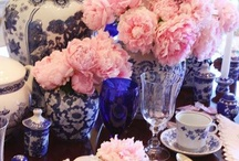 Blue and White decor / by Lori @ More With Less Today