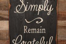 wood signs & sayings / by Jodie Roose