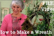 FREE How-To Videos From LadybugWreaths / Nancy Alexander of www.LadybugWreaths.com, and www.BestOfNancy.com has filmed over 35 videos on wreath and floral design.  Her videos have over 730,000 views on YouTube.   Nancy has many FREE videos, and also sells how-to DVDs and e-Books which will teach you how to make your very own special door wreaths.   Enjoy Wreath-Making Tips With Nancy! / by Ladybug Wreaths, Nancy Alexander