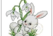 Haft krzyzykowy (Wielkanoc) / Cross stitching (Easter) / by Anna Kopczynska