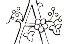 Schriften & Buchstaben  / by a.liZ.a