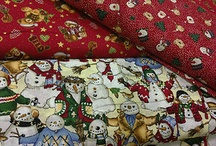Christmas Collection Fabrics / Dress making poly cotton dress fabric.  Our exclusive Christmas collection fabrics.  Available only from Prestige Fashion UK Ltd / by Prestige Fashion UK Ltd