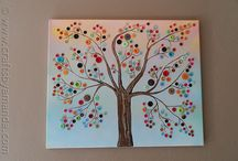 Cute art ideas for the kids / by Tina Bigalk