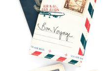 VINTAGE / inspired by travel, vintage mail, handwriting, and the colors navy and brown. / by Sandy