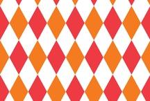 Lozenge Fabrics / circus-carnival fabrics / by UMBELAS