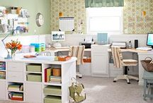 Craft Room Inspiration / Love these ideas for beautiful sewing and craft rooms!  / by Roseann | Mia Bella Originals
