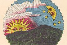 sun, moon & stars / by David Lovely