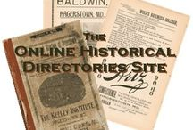 Online Historical Directories / by AnceStories: The Stories of My Ancestors