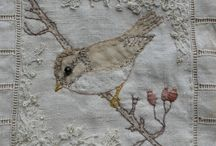 Altered Quilt Project / Taking a damaged quilt and repairing it with applique and embroidery.  Pinning ideas that might come in handy.   / by Candace Atwood