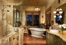Bathrooms / by Terrie Hall T. Hall Interiors