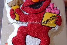 Elmo birthday cake's for Ella 1st bday / by Tina Williams