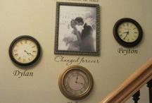 wedding photo with clock / by Paula McCready