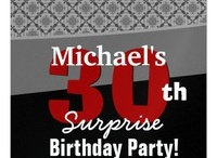 Birthday Parties - SURPRISE - 30th SURPRISE Birthday Party! / To see more 30th birthday party selections, check out www.zazzle.com/jaclinart_surprise*/ or www.zazzle.com/jaclinart*/ / by JaclinArt