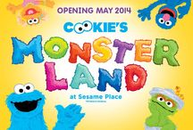 Cookie's Monster Land 2014! / Sesame Place will open its furriest land ever in May 2014 – Cookie's Monster Land! Cookie Monster will serve as host to all of his monster friends in this colorful and imaginative new land featuring five exciting rides, a three-story net climb, and a soft play area for the park's youngest visitors. / by Sesame Place