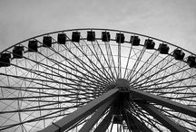 Ferris Wheel / i see nothing in space as promising as the view from a ferris wheel.  ~ e.b.white / by Shannon Brunner