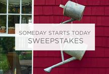 Someday Starts Today Pinterest Sweepstakes / Interested in winning 4 gallons of Valspar Reserve Exterior Paint and a $50 gift card? Simply repin one of these Labor Day projects and you'll be entered to win! Enter now: http://sweeps.piqora.com/ValsparPaint / by Valspar